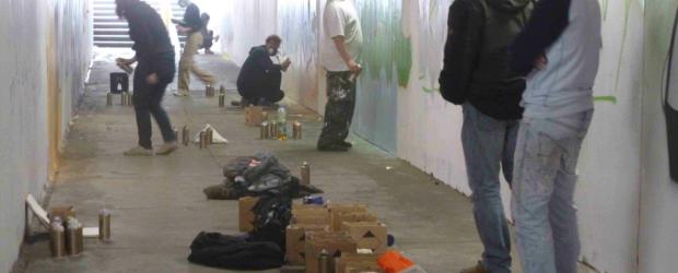 Sprayer in der Unterführung