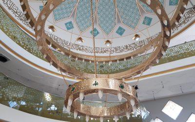 Golden Bronze Kronleuchter der Esslinger Moschee